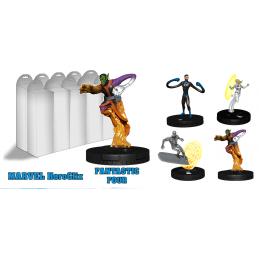 WIZKIDS MARVEL HEROCLIX FANTASTIC FOUR BOOSTER PACK 5 MINIATURES