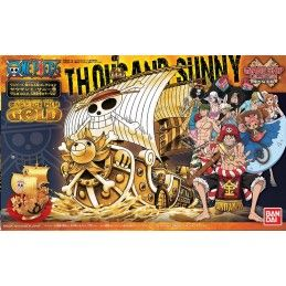 ONE PIECE GRAND SHIP COLLECTION THOUSAND SUNNY FILM GOLD MODEL KIT BANDAI