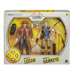 MARVEL LEGENDS LOGAN AND HAWKEYE ACTION FIGURE HASBRO
