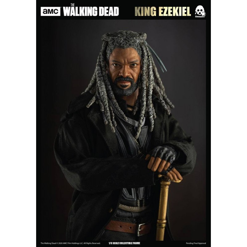 THE WALKING DEAD KING EZEKIEL ACTION FIGURE THREEZERO