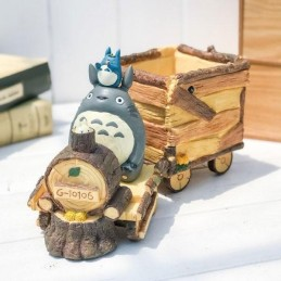 BENELIC MY NEIGHBOUR TOTORO TRAIN FLOWER VASE