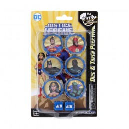 DC JUSTICE LEAGUE UNLIMITED HEROCLIX DICE AND TOKEN PACK WIZKIDS