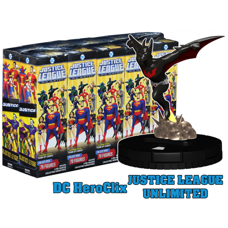 DC JUSTICE LEAGUE UNLIMITED HEROCLIX 10X BOOSTER BRICK WIZKIDS