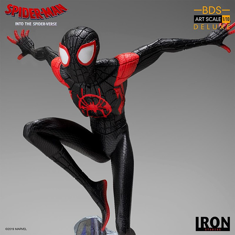 SPIDER-MAN INTO THE SPIDER-VERSE - SPIDER-MAN MILES MORALES 1/10 RESIN STATUE FIGURE IRON STUDIOS