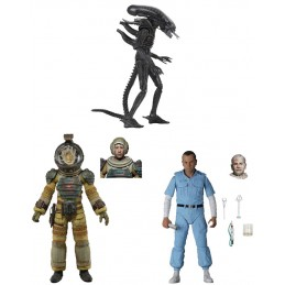 ALIEN 40TH ANNIVERSARY SERIE 3 SET 3X ACTION FIGURE NECA