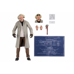 BACK TO THE FUTURE RITORNO AL FUTURO ULTIMATE DOC BROWN ACTION FIGURE NECA