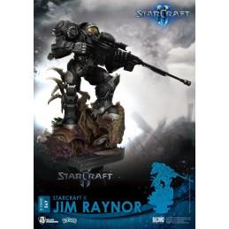 BEAST KINGDOM D-STAGE STARCRAFT 2 JIM RAYNOR STATUE FIGURE DIORAMA