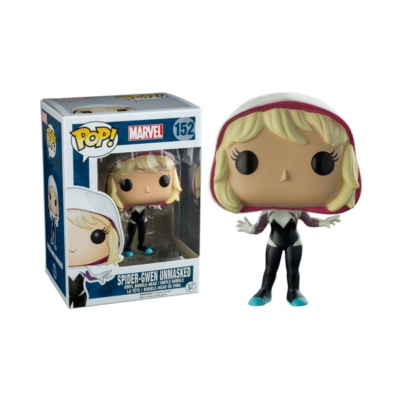 FUNKO POP! SPIDER-GWEN UNMASKED BOBBLE HEAD KNOCKER FIGURE FUNKO