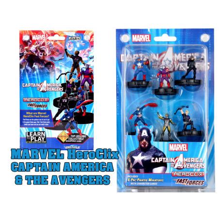 MARVEL HEROCLIX CAPTAIN AMERICA AND AVENGERS FAST FORCES MINIATURES