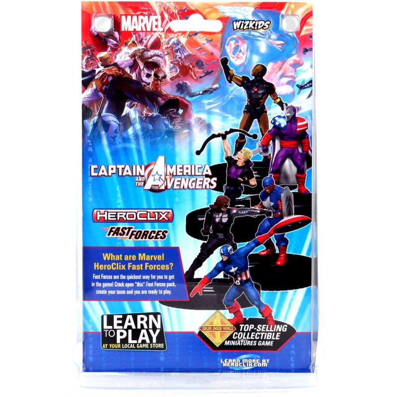 WIZKIDS MARVEL HEROCLIX CAPTAIN AMERICA AND AVENGERS FAST FORCES MINIATURES