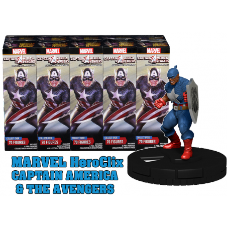MARVEL HEROCLIX CAPTAIN AMERICA AND THE AVENGERS 10X BOOSTER BRICK