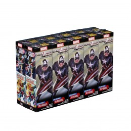 WIZKIDS MARVEL HEROCLIX CAPTAIN AMERICA AND THE AVENGERS 10X BOOSTER BRICK