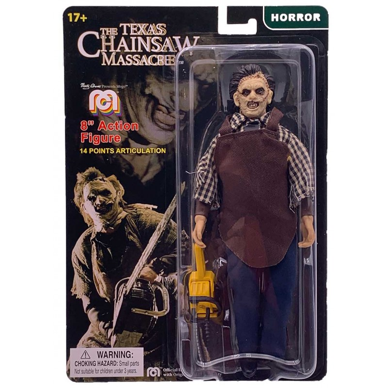 TEXAS CHAINSAW MASSACRE LEATHERFACE CLOTHED ACTION FIGURE MEGO CORPORATION