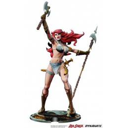 RED SONJA BY FRANK THORNE STATUE 45TH ANNIVERSARY FIGURE DYNAMITE ENTERTAINMENT