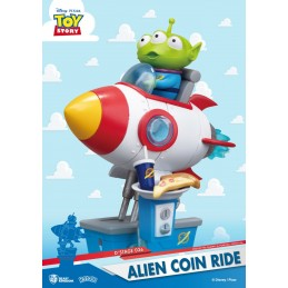 BEAST KINGDOM D-STAGE TOY STORY ALIEN COIN RIDE STATUE FIGURE DIORAMA