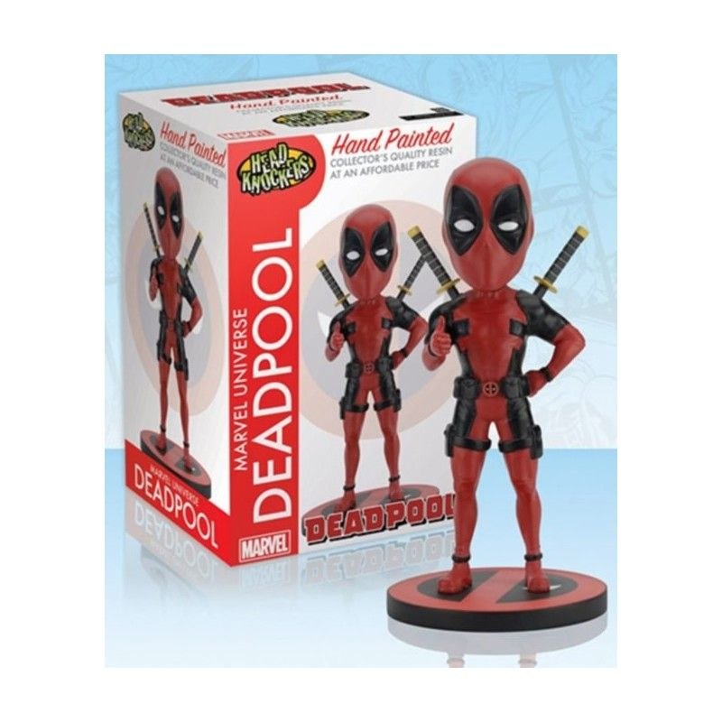 NECA MARVEL DEADPOOL BOBBLE HEAD KNOCKER FIGURE