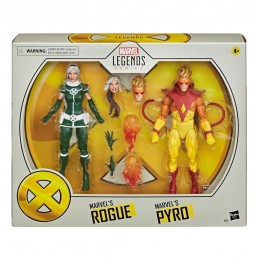 HASBRO MARVEL LEGENDS ROGUE AND PYRO ACTION FIGURE