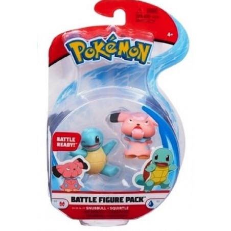 POKEMON BATTLE FIGURE PACK SNUBBULL AND SQUIRTLE
