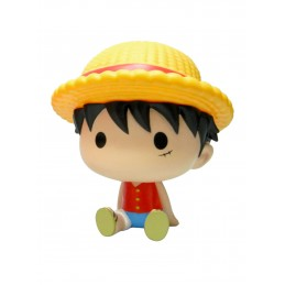 PLASTOY ONE PIECE LUFFY RUBBER BANK FIGURE