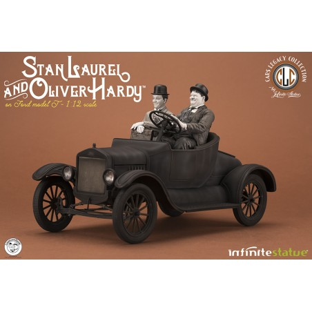 LAUREL AND HARDY ON FORD OLDANDRARE STATUA FIGURE