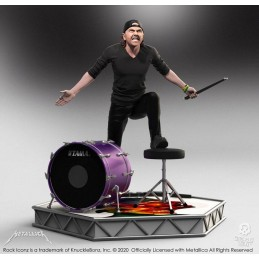 KNUCKLEBONZ ROCK ICONZ METALLICA LARS ULRICH STATUE FIGURE