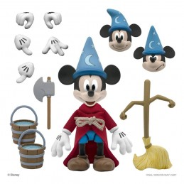 DISNEY ULTIMATES SORCERER'S APPRENTICE MICKEY MOUSE 18CM ACTION FIGURE SUPER7
