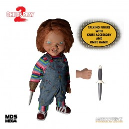 MDS MEGA SCALE CHILD'S PLAY 2 - TALKING MENACING CHUCKY ACTION FIGURE MEZCO TOYS