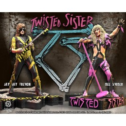 ROCK ICONZ TWISTED SISTER 2-PACK SET STATUE FIGURE KNUCKLEBONZ