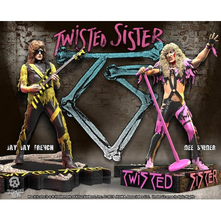 ROCK ICONZ TWISTED SISTER 2-PACK SET STATUE FIGURE