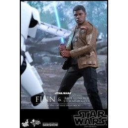"STAR WARS FINN AND FIRST ORDER RIOT STORMTROOPER 12"" ACTION FIGURE HOT TOYS"