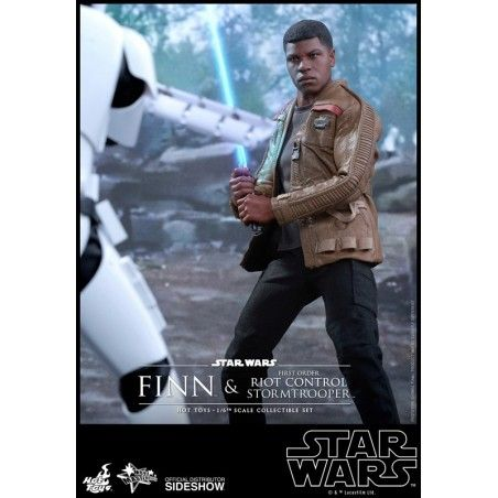 "STAR WARS FINN AND FIRST ORDER RIOT STORMTROOPER 12"" ACTION FIGURE"