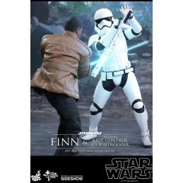 """STAR WARS FINN AND FIRST ORDER RIOT STORMTROOPER 12"""" ACTION FIGURE"""