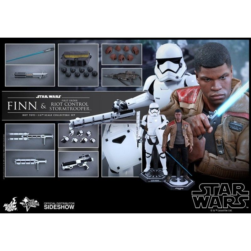 "HOT TOYS STAR WARS FINN AND FIRST ORDER RIOT STORMTROOPER 12"" ACTION FIGURE"