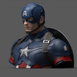 AVENGERS ENDGAME CAPTAIN AMERICA BUST BANK FIGURE SEMIC