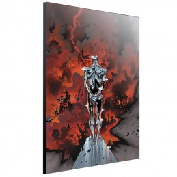 SEMIC SILVER SURFER BY COIPEL WOOD PRINT STAMPA SU LEGNO