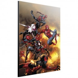 SEMIC SPIDER-VERSE BY COIPEL WOOD PRINT STAMPA SU LEGNO