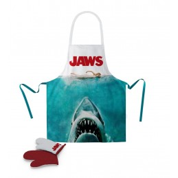 SD TOYS JAWS LO SQUALO POSTER APRON AND OVEN MITT