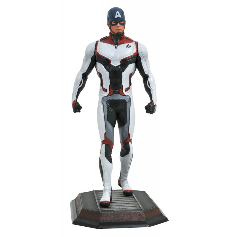 DIAMOND SELECT MARVEL GALLERY AVENGERS ENDGAME TEAM SUIT CAPTAIN AMERICA STATUE