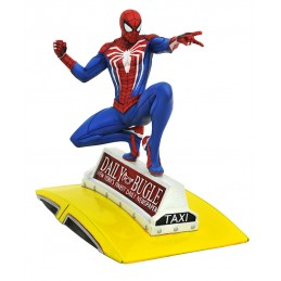 MARVEL GALLERY SPIDER-MAN ON TAXI FIGURE STATUE DIAMOND SELECT