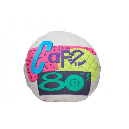 BACK TO THE FUTURE 80'S CAFE ROUND CUSHION PILLOW CUSCINO
