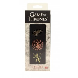 GAME OF THRONES 3 PIN SET SPILLE METALLO SD TOYS