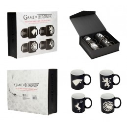 GAME OF THRONES SET 4 LASER ETCHED CERAMIC MUG TAZZE SD TOYS