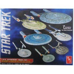 STAR TREK U.S.S. ENTERPRISE 7X 1/2500 MODEL KIT AMT