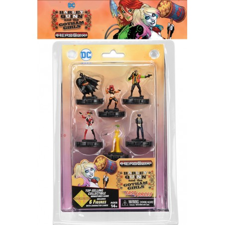 HARLEY QUINN AND THE GOTHAM GIRL HEROCLIX FAST FORCES MINIATURES