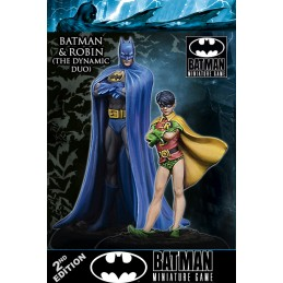 KNIGHT MODELS BATMAN MINIATURE GAME - BATMAN AND ROBIN DYNAMIC DUO MINI RESIN STATUE FIGURE