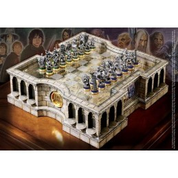 NOBLE COLLECTIONS THE LORD OF THE RINGS CHESS SET SCACCHIERA IN RESINA
