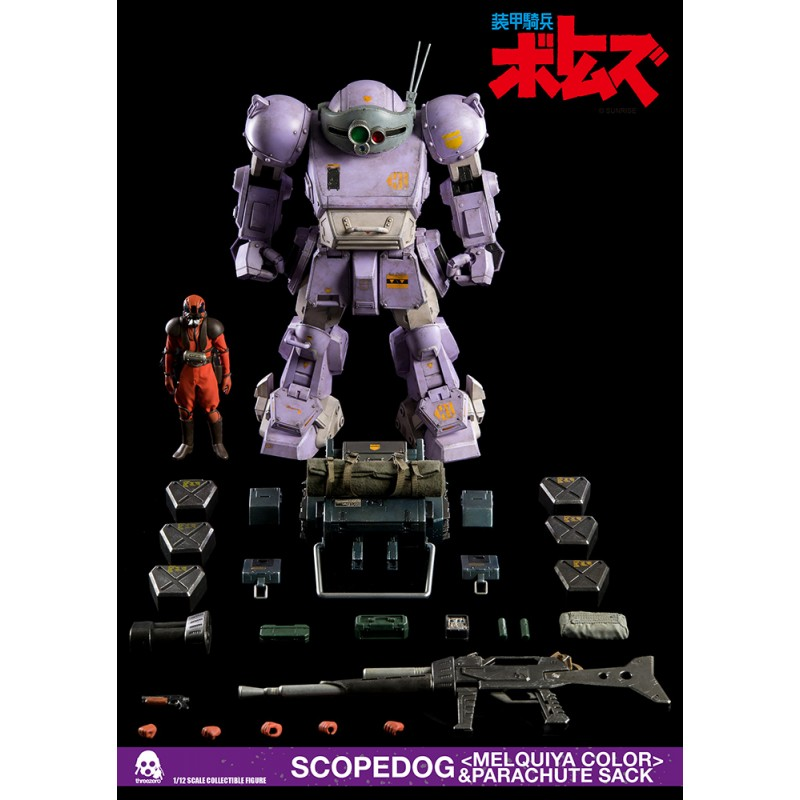 ARMORED TROOPERS VOTOMS SCOPEDOG MELQUIYA COLOR ACTION FIGURE THREEZERO