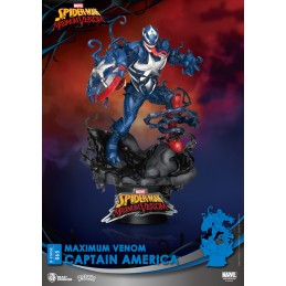 BEAST KINGDOM D-STAGE MAXIMUM VENOM CAPTAIN AMERICA STATUE FIGURE DIORAMA
