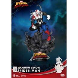 BEAST KINGDOM D-STAGE MAXIMUM VENOM SPIDER-MAN STATUE FIGURE DIORAMA