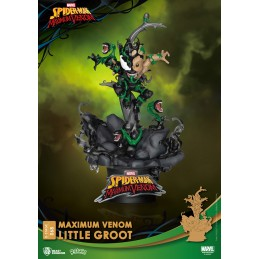 BEAST KINGDOM D-STAGE MAXIMUM VENOM LITTLE GROOT STATUE FIGURE DIORAMA